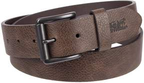 Levi's Levis Men's Embossed-Logo Leather Belt