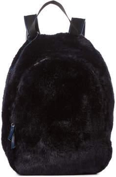 Jil Sander Navy Navy Faux Fur Backpack