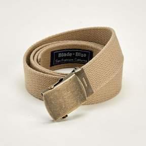 Blade + Blue Khaki Cotton Web Military Belt