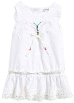 Flapdoodles Little Girl's Butterfly Cotton Dress