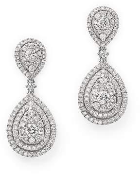 Bloomingdale's Diamond Cluster Teardrop Earrings in 14K White Gold, 1.50 ct. t.w. - 100% Exclusive