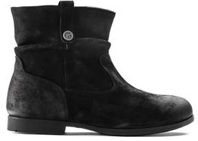 Birkenstock Womens Sarnia Suede Round Toe Ankle Fashion Boots.