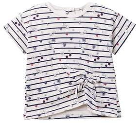 Jessica Simpson Striped Knot Front Top (Toddler & Little Girls)