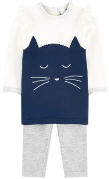 3 Pommes Cat dress and matching leggings