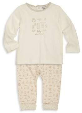 Absorba Little Boy's Printed Pants & Cotton Tee Set