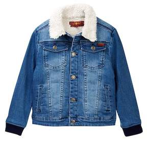 7 For All Mankind Faux Shearling Lined Denim Jacket (Little Boys)