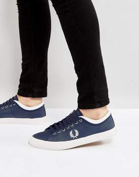 Fred Perry Kendrick Reversed Tipped Cuff Leather Sneakers Navy