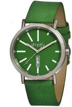 Simplify The 400 Leather-band Watch.