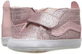 Vans Kids SK8-Hi Crib Blush) Girls Shoes