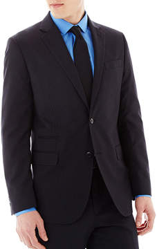 Jf J.Ferrar JF Black Striped Suit Jacket - Slim-Fit