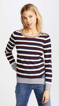 Chaser Deconstructed Striped Sweater