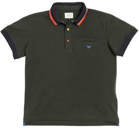 Armani Junior Stretch Cotton Piqué Polo Shirt