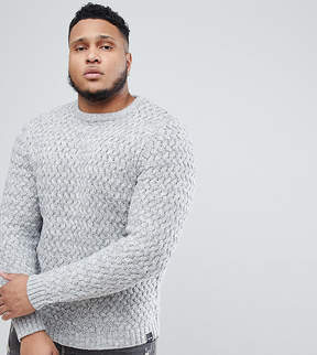 ONLY & SONS PLUS Knitted Sweater With Textured Weave