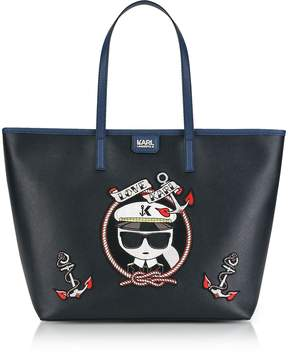 Karl Lagerfeld Black Captain Shopper Bag
