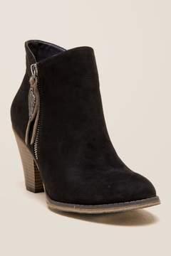 Mia Montgomery Zipper Ankle Boot - Black