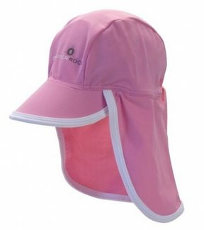 Snapper Rock Baby Girls' Pink/White Flap Hat (Kids) 8116208
