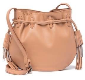 Lucky Brand Seren Leather & Suede Small Bucket Crossbody Bag