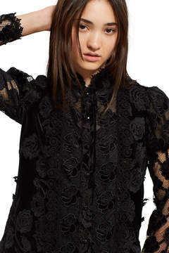 Anna Sui Victorian Rose Velvet Dress