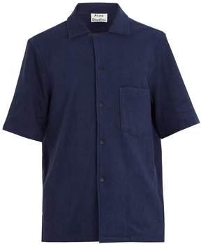 Acne Studios Jef terry-towelling cotton shirt