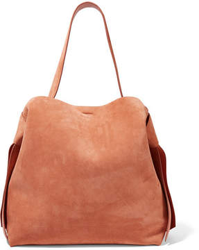 Acne Studios Musubi Maxi Knotted Suede Shoulder Bag - Brown