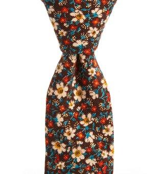 Roundtree & Yorke Floral Cord Narrow Tie