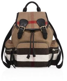 Burberry Medium Check Canvas Backpack - CLASSIC CHECK - STYLE