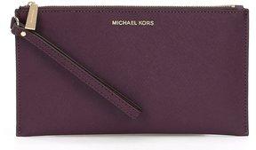 MICHAEL Michael Kors Large Zip Clutch - DAMSON - STYLE