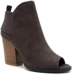 Qupid Charcoal Barnes Peep-Toe Bootie - Women