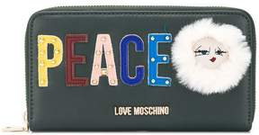 Love Moschino peace logo wallet