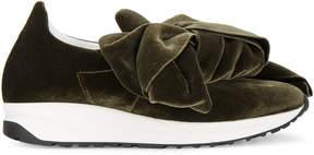 Joshua Sanders bow embellished flatform sneakers