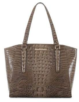 Brahmin Paris Embossed Leather Business Tote
