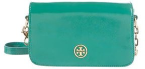 Tory Burch Robinson Leather Crossbody Bag - GREEN - STYLE