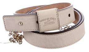 Gucci Suede Embellished Belt