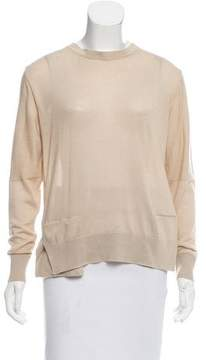 Calvin Klein Collection Silk-Cashmere Open Back Sweater w/ Tags