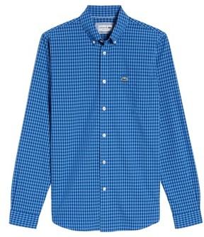 Lacoste Men's Gingham Check Poplin Shirt