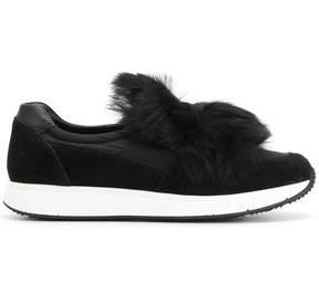Car Shoe slip on fur sneakers