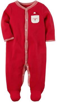 Carter's Baby Santa Chest Applique Thermal Footed Pajamas