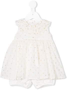 MonnaLisa sleeveless polka dot dress