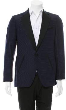 Salvatore Ferragamo Wool & Silk-Blend Tuxedo Jacket