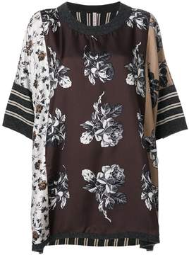Antonio Marras contrast pattern top