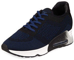 Ash Lucky Leather-Trim Knit Sneakers
