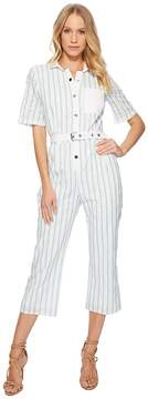 For Love & Lemons Hermosa Striped Eyelet Jumpsuit Women's Jumpsuit & Rompers One Piece