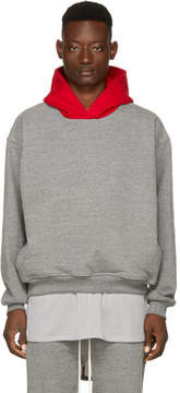 Fear Of God Grey and Red Everyday Hoodie