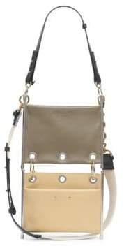 Chloé Roy Double Bi-Color Leather Pouch Bag