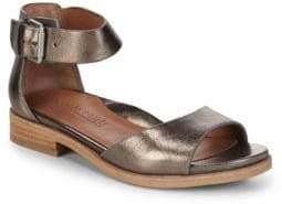 Gentle Souls Gracey Metallic Ankle-Strap Sandals