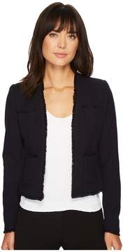 Ellen Tracy Fringe Trimmed Jacket Women's Coat