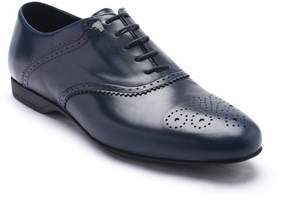 Versace Men's Leather Oxford Lace-up Dress Shoes Dark Blue Navy.