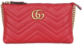 Gucci Gg Marmont 2.0 Leather Clutch - RED - STYLE
