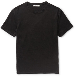 Sandro Slim-Fit Slub Linen T-Shirt