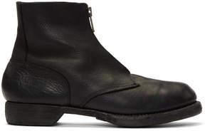 Guidi Black Soldato Front Zip Boots